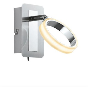 casaNOVA LED Wandlampe 1 flg RIGA Nickelfarbig/Chromfarbig