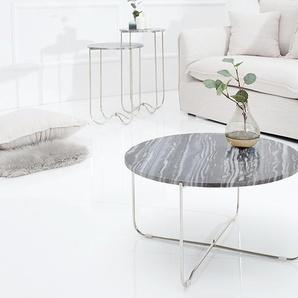 Exklusiver Couchtisch NOBLE 62cm grau echter Marmor hochwertig verarbeitet