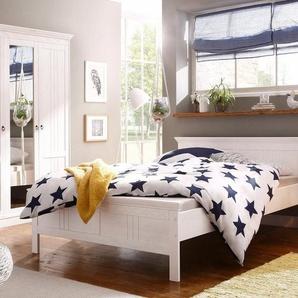 Home affaire Schlafzimmer-Set »Indra«, (Set, 2-tlg), bestehend aus 140er Bett und 3-türigem Schrank, weiß