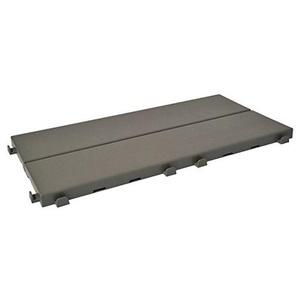 Fliesen aus Kunststoff mit Oberfläche in Holzoptik 37,7x 18,6cm, für innen, außen und Garten, vielseitig und rüttelfest, 8 Stück, grau