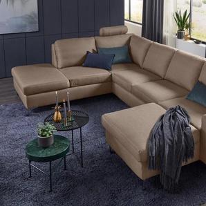 Set One By Musterring Wohnlandschaft »SO 1100«, beige, B/H/T: 334x45x53cm, 5 Jahre Hersteller-Garantie, hoher Sitzkomfort