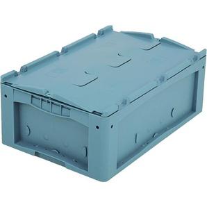 BITO-Lagertechnik Kleinladungsträger KLTD mit Deckel / KLTD64220D 600x400x220 türkis Deckel Doppel