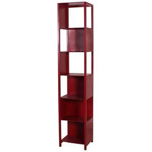 Designregal in Rot modern