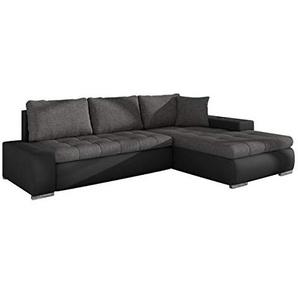 Mirjan24  Elegante Sofa Orkan Mini mit Schlaffunktion und Bettfunktion, Eckcouch Ecksofa mit Bettkasten, Couch L-Sofa Große Farbauswahl, Beste Qualität (Soft 011 + Lux 06)