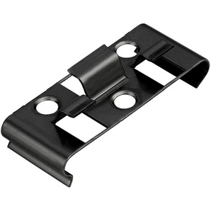 Kovalex Montageclip Metall Schwarz 25 Stück