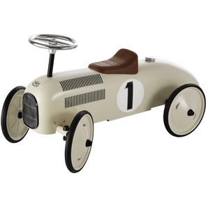 Kinderauto aus Metall, cremeweiß, L76 VINTAGE