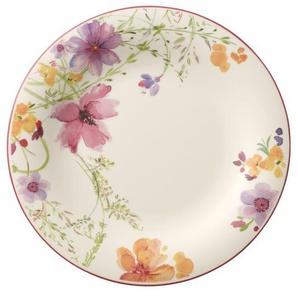 Villeroy & Boch XL Teller flach Ø 30 MARIEFLEUR Basic Weiß mit farbigen Blüten