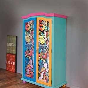 Home affaire Kleiderschrank »Genffiti« mit tollem Farbdesign