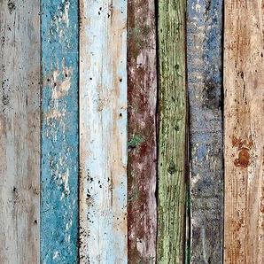 Bordüre »pop.up Panel«, gestreift, Holz, used, urban, mehrfarbig, glatt