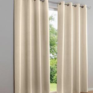Dekoschal unifarben, weiß, Gr. 225/280 cm,  home, Material: Polyester