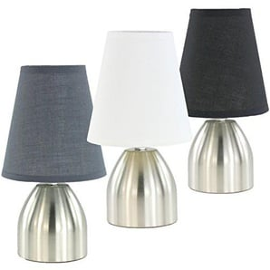 Nachttischlampe Tischlampe Tischleuchte mit Touch Funktion Weiß 998 mit 3 Leuchtstufen