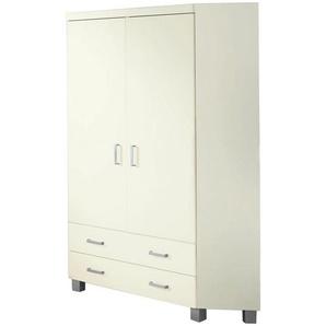 Paidi: Kleiderschrank, Holzwerkstoff, Weiß, B/H/T 116,5 199 116,5