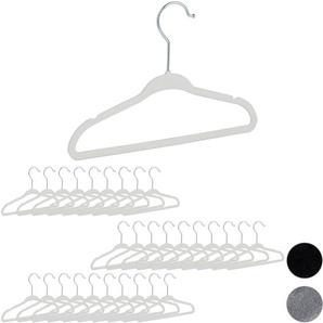 60 Stück rutschfeste Kleiderbügel mit Antirutsch Samt Bezug Raumspar Bügel
