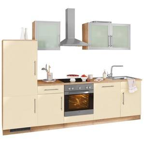 WIHO Küchen Küchenzeile »Aachen« ohne E-Geräte, Breite 280 cm, gelb