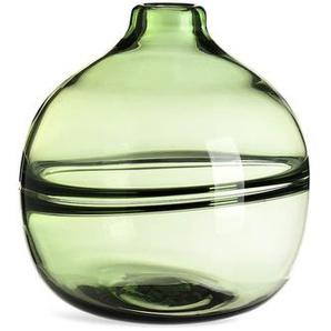 Kugelvase Bauchig, Glas, D:19cm x H:25,5cm, grün
