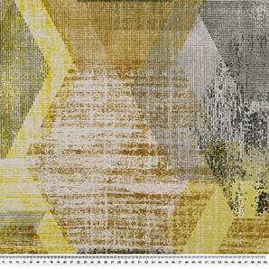 Zanderino ab 1m: Dekostoff, Panama, Geometrie, gelb-Mehrfarbig, 140cm breit