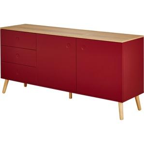 Roomers Sideboard | rot | 162 cm | 79 cm | 43 cm | Möbel Kraft
