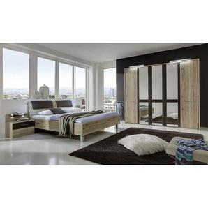Schlafzimmerset in Eiche Braun 180x200 (4-teilig)