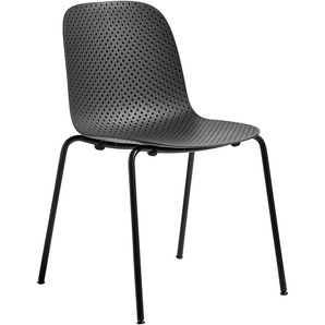 Hay 13Eighty Chair Gartenstuhl Soft Black Untergestell Graphite Black (b) 52.00 X (t) 51.50 X (h) 81.00 Cm