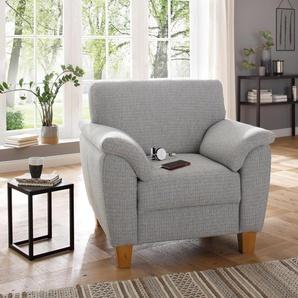 Home Affaire Sessel »Alta«, silber, B/H/T: 101x46x54cm, komfortabler Federkern, hoher Sitzkomfort