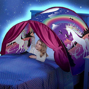 Fendii Unicorn Magic World Zelt Faltbares Zelt mit LED Licht Traumzelt