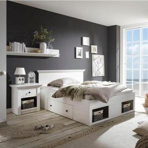 Home affaire Schlafzimmer-Set »California«, (Set, 4-tlg), klein, Bett 140 cm, 1 Nachttisch und 3-trg Kleiderschrank