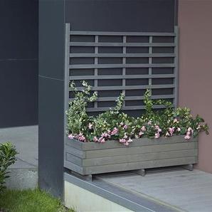 Blumenkasten mit Rankgitter Gmunden 136x37x136cm vintage-grau