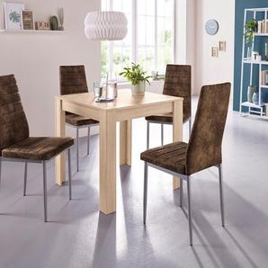 Essgruppe »0«, (Set, 5-tlg), mit Esstisch »Lynn«, Breite 80 cm und 4 x Stuhl »Kate«