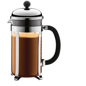 bodum Kaffeebereiter /Kaffeepresse 1 l CHAMBORD Schwarz/Transparent