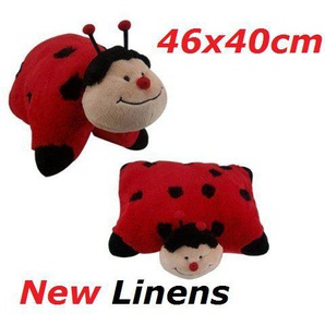 Ladybird 18  KuscheltierKissen Marienkäfern 46 x40 cm 2in1 Animal Pets Pillow groß
