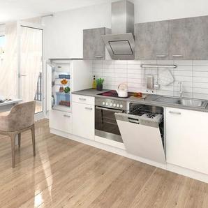 RÖKÜ Küchenzeile mit E-Geräten , Breite 280 cm