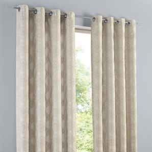 Dekoschal gemustert, natur, Gr. 175/140 cm,  home, Material: Polyester