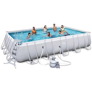 Bestway Rectangular Frame Pool Set 671 x 366 mit Sandfilter 56471