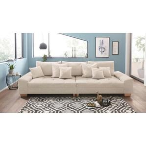 Nova Via Big-Sofa, beige, B: 300cm, Inkl. Zierkissen