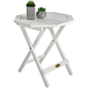 : Tisch, Eukalyptusholz, Weiß, H 50