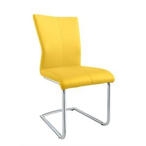 MONDO Stuhl AMATI Schwinggestell 3 Sitz F Lederlook gelb