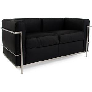 LC2 2-Sitzer Sofa Le Corbusier - Schwarz