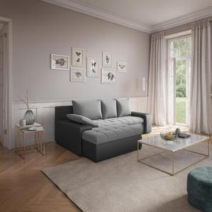 Sit&more Eck-Couch, weiß, hoher Sitzkomfort