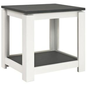 Beistelltisch SANTANA 50 x 50 x 40 cm Holznachbildung grau/weiß