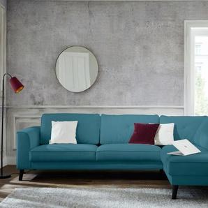 Guido Maria Kretschmer Home&living Ecksofa »Bilge«, blau, Inkl. Rückenkissen