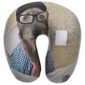 Osmykqe Humorous-Irish-Wolfhound Pattern U Type Pillow Neck Pillow