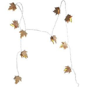 Lichterkette Ahorn, 10Led, L:140cm, Batterien, natur