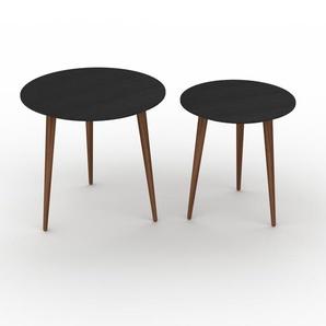 Couchtisch Wenge, Holz - Eleganter Sofatisch: Beste Qualität, einzigartiges Design - 50/40 x 47/44 x 50/40 cm, Konfigurator