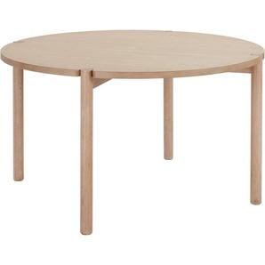 andas Esstisch »Niss«, mit runder Tischplatte und schönem Beingestell aus massivem Eschenholz, Design by Morten Georgsen