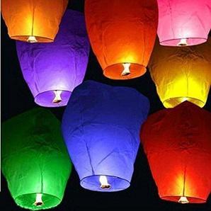 Upsky 10ST Oval Sky Laterne wünschen Lampen für Party Hochzeit Geburtstag (Farben gemischt)