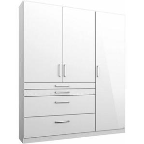 rauch Kleiderschrank »Homburg« mit Schubkästen, weiß, 136 cm x 197 cm x 54 cm