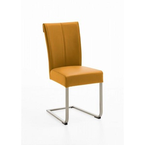 Freischwinger Amigo Leder gelb NIEHOFF 150102994 (BHT 47x97x59 cm) Niehoff-Sitzmöbel