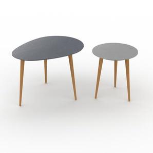 Couchtisch Grau - Eleganter Sofatisch: Beste Qualität, einzigartiges Design - 67/40 x 47/44 x 50/40 cm, Konfigurator