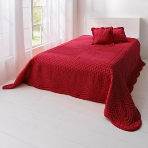 Tagesdecke effektvolle Steppung, rot,  home, Material: Polyester