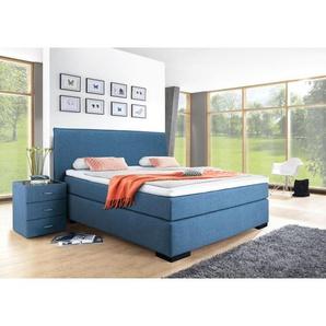 Ole Gunderson Bett FENTISSIMO Stoffbezug Blau ca. 140 x 200 cm Taschenfederkern H2